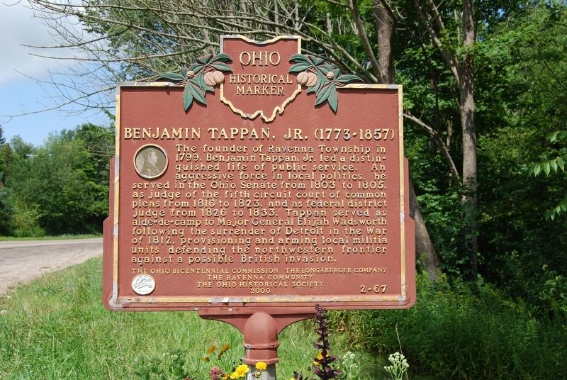 Benjamin Tappan, Jr. Marker image. Click for full size.
