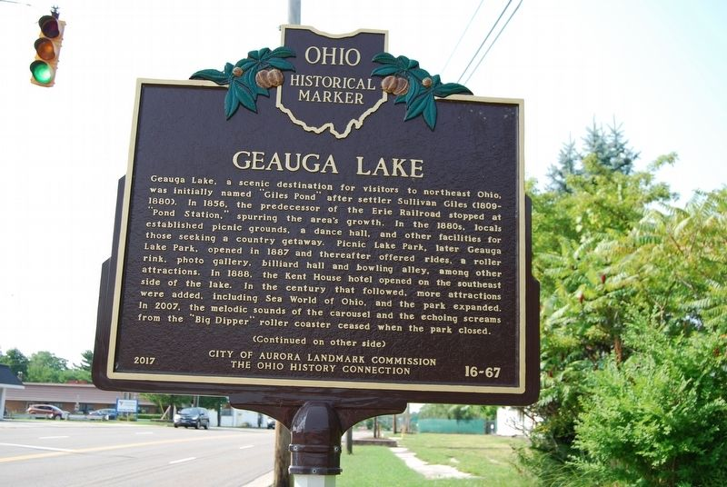 Geauga Lake Marker image. Click for full size.