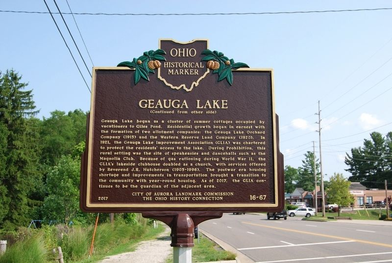 Geauga Lake Historical Marker