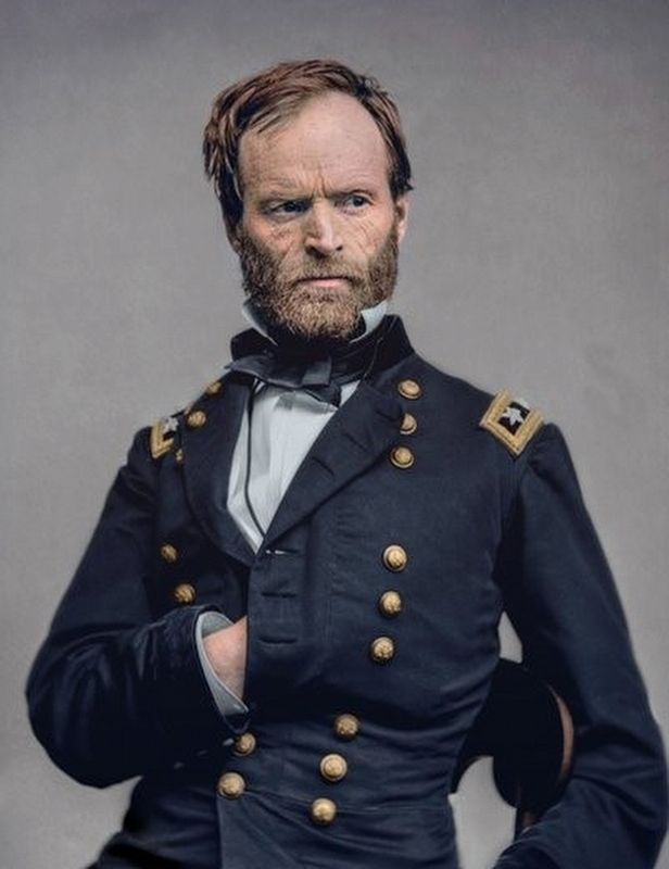 Gen. William T. Sherman, U.S.A. image. Click for full size.