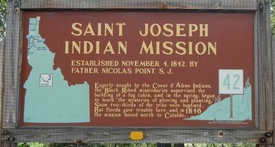 Saint Joseph Indian Mission Marker image. Click for full size.