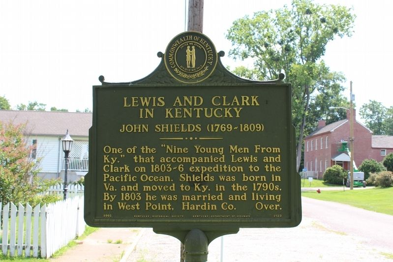 Lewis and Clark in Kentucky - John Shields (1769-1809) Marker (Side 1) image. Click for full size.