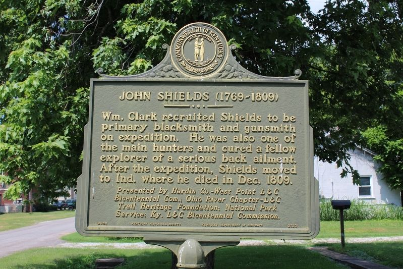 Lewis and Clark in Kentucky - John Shields (1769-1809) Marker (Side 2) image. Click for full size.