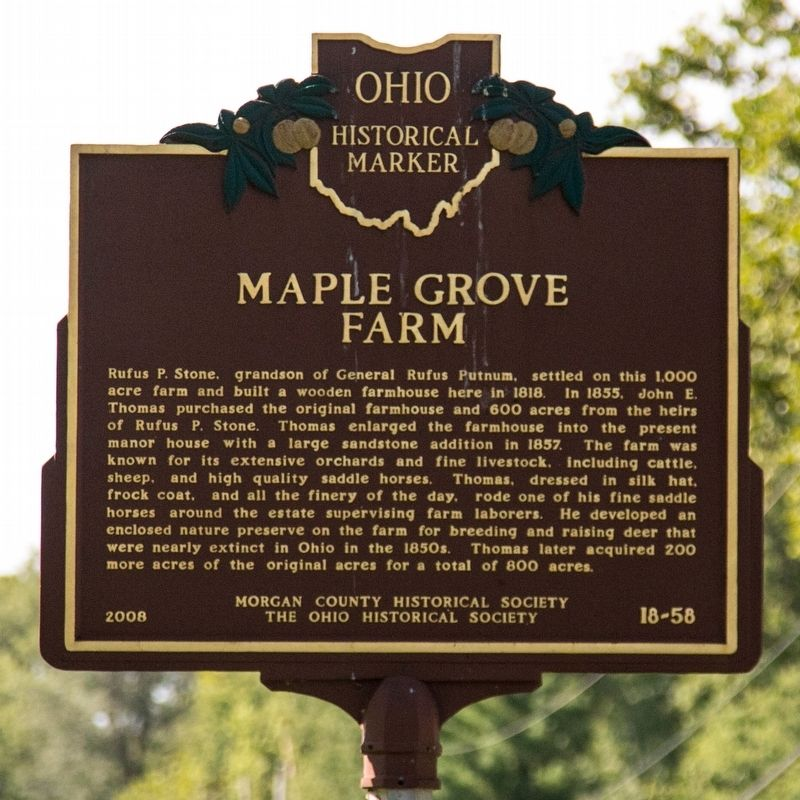 Maple Grove Farm Marker image. Click for full size.