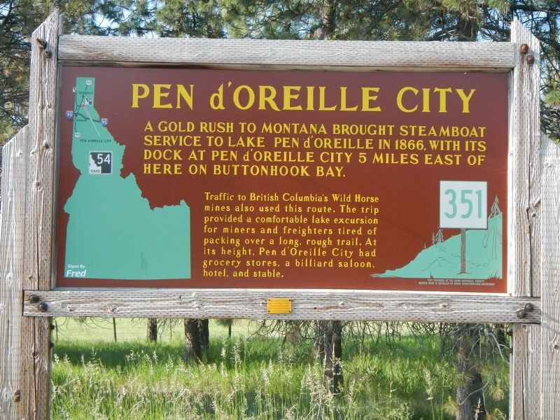 Pen d'Oreille City Marker image. Click for full size.