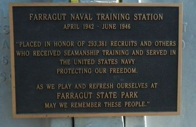 Farragut Naval Training Station Marker image. Click for full size.
