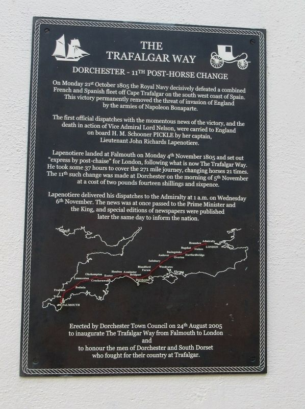 The Trafalgar Way Marker image. Click for full size.