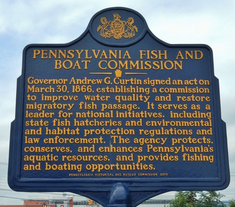 Pennsylvania Fish and Boat Commission Marker image. Click for full size.