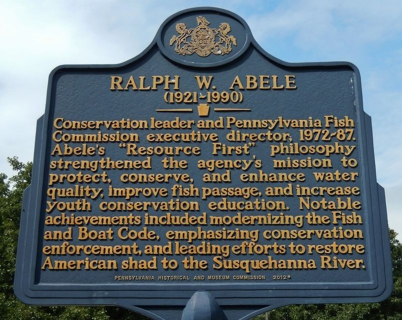 Ralph W. Abele Marker image. Click for full size.