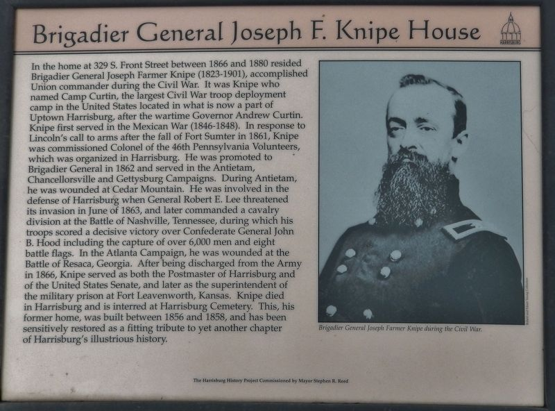 Brigadier General Joseph F. Knipe House Marker image. Click for full size.