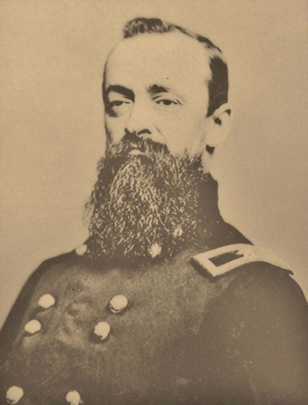 Marker detail: Brigadier General Joseph Farmer Knipe during the Civil War image. Click for full size.