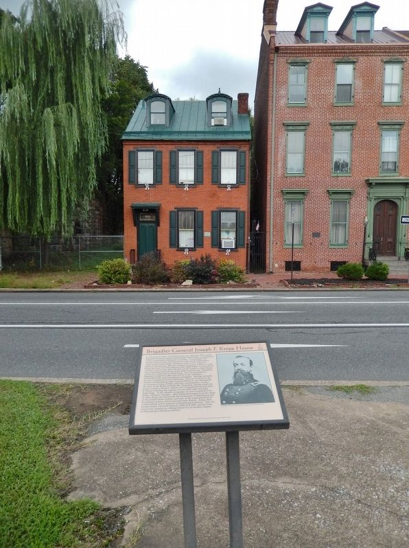 Brigadier General Joseph F. Knipe House Marker (<i>tall view; house in background across street</i>) image. Click for full size.