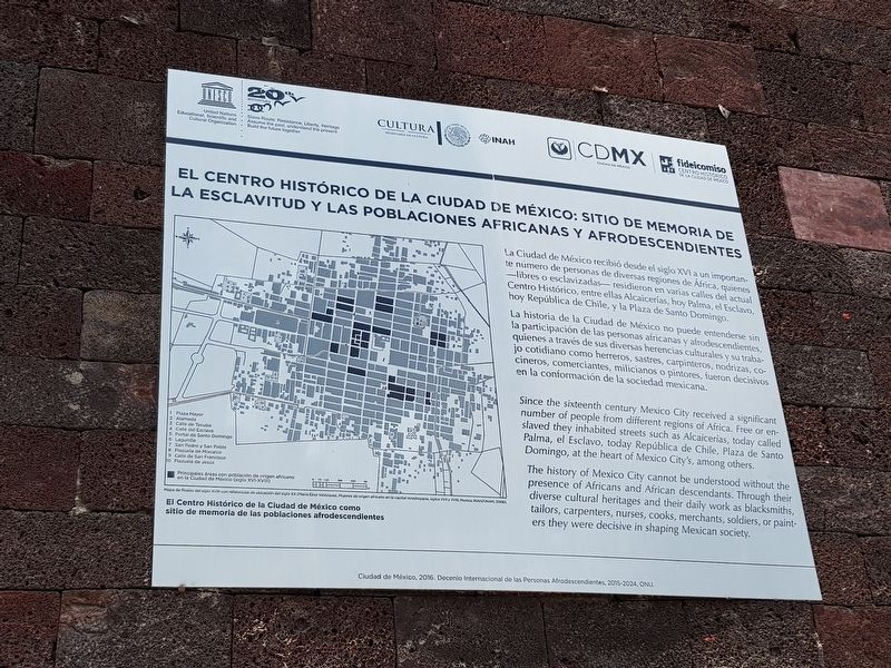 A Memorial Site to Slavery and African Populations and Descendants Marker image. Click for full size.