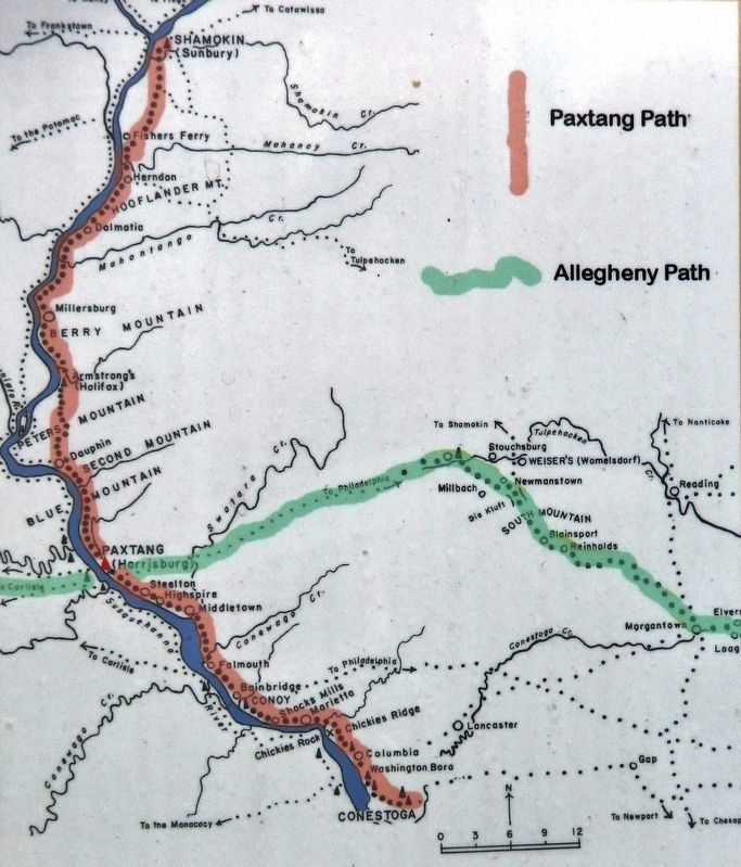 Marker detail: The Allegheny Path image. Click for full size.
