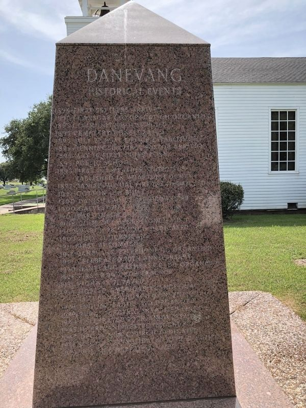 Danevang Pioneer Monument Right Side image. Click for full size.