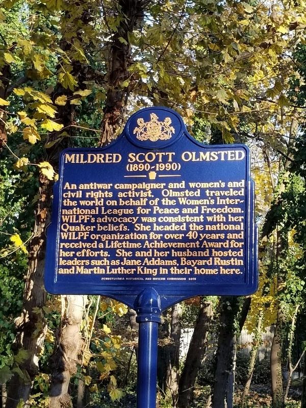 Mildred Scott Olmsted Marker image. Click for full size.