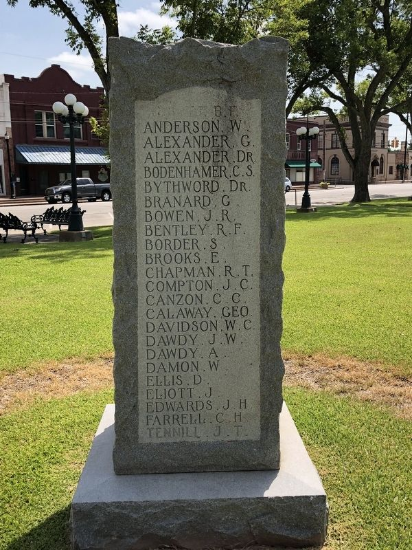Wharton County Confederate Memorial Left image. Click for full size.
