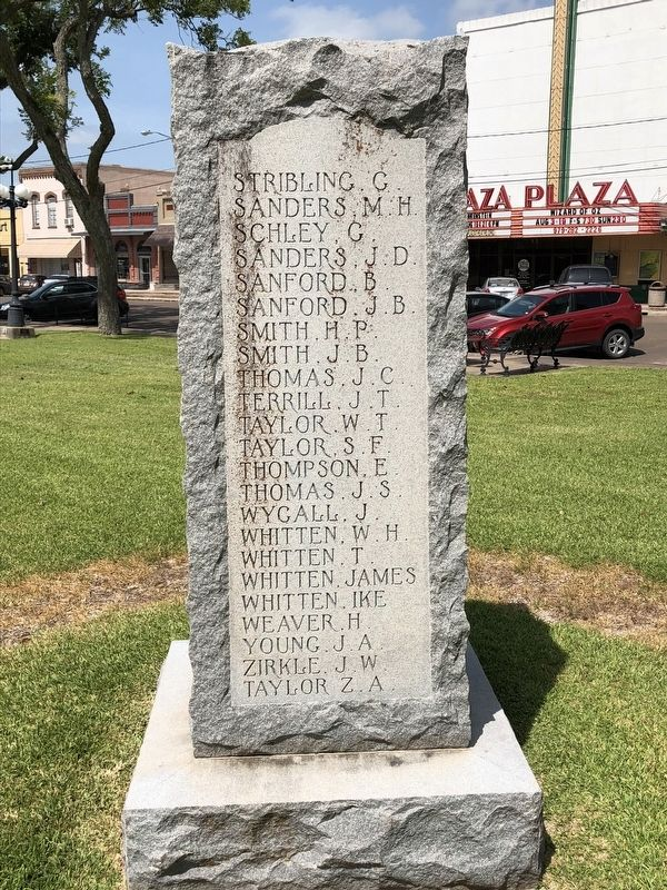 Wharton County Confederate Memorial Right image. Click for full size.