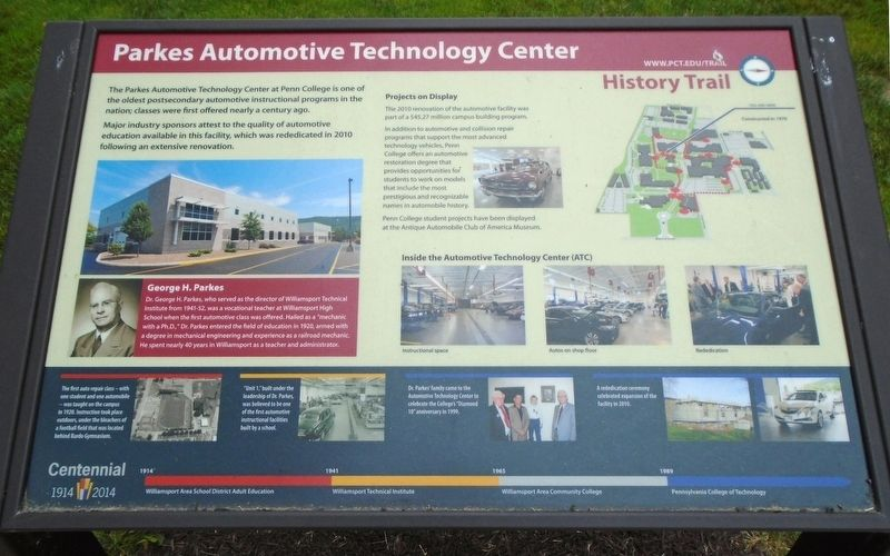 Parkes Automotive Technology Center Marker image. Click for full size.