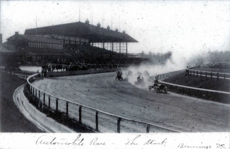 Automobile Race -- The Start -- Bennings DC image. Click for full size.