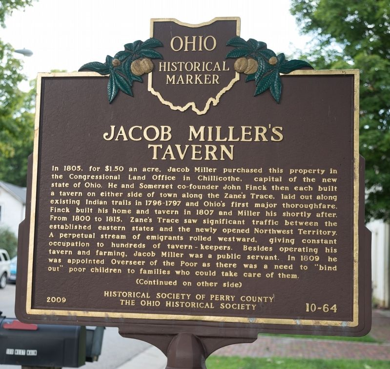 Jacob Miller's Tavern Marker image. Click for full size.