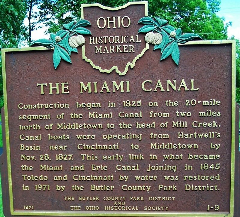 The Miami Canal Marker image. Click for full size.