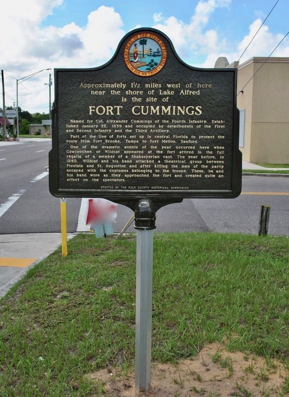 Fort Cummings Marker - Repaired image. Click for full size.