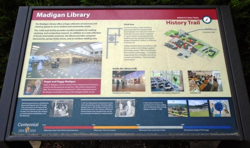 Madigan Library Marker image. Click for full size.