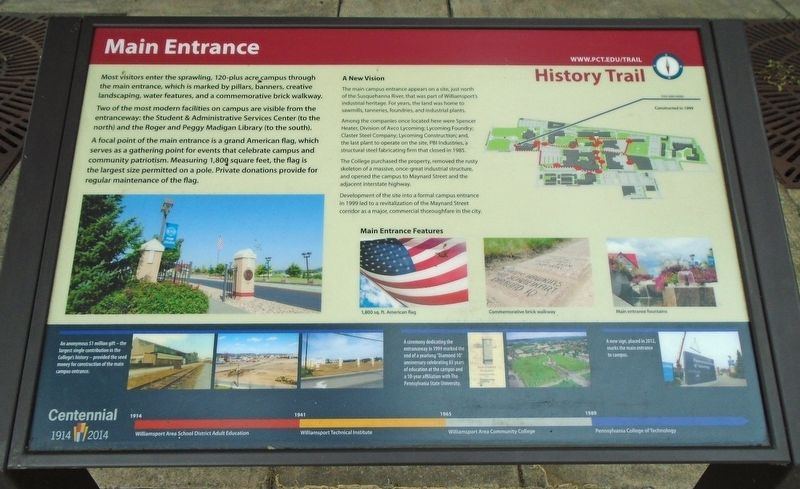 Main Entrance Marker image. Click for full size.
