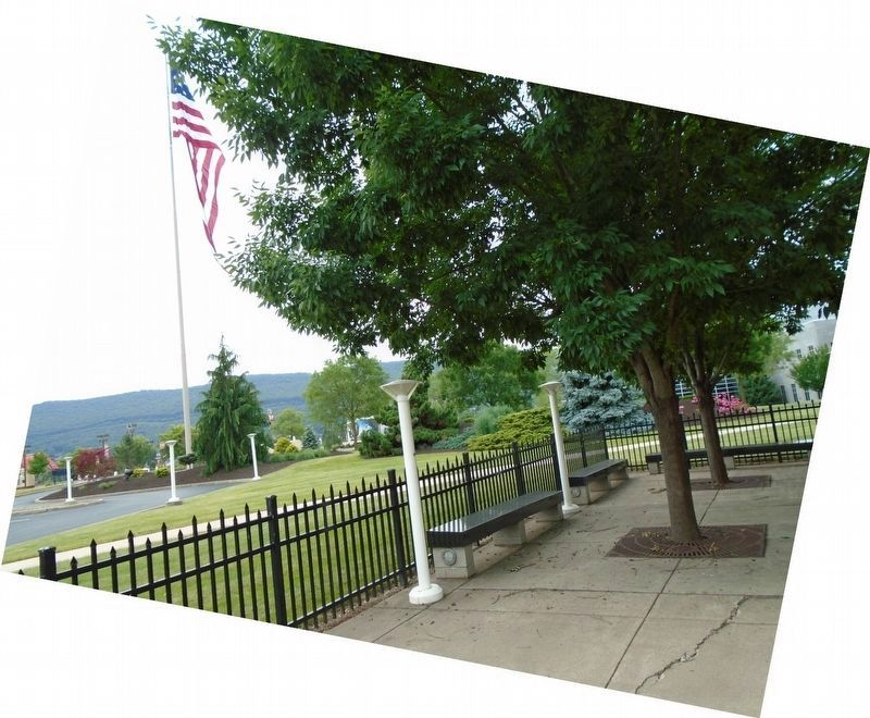 Main Entrance Flag from near Marker image. Click for full size.