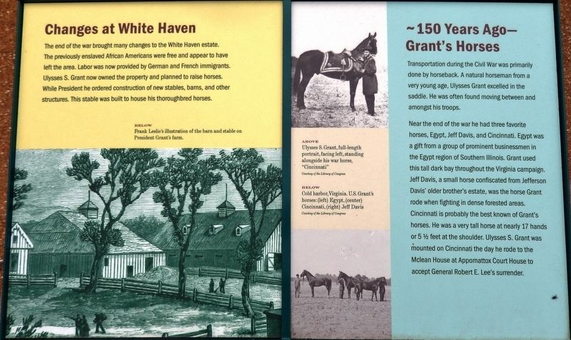Changes at White Haven / Grants Horses Marker image. Click for full size.