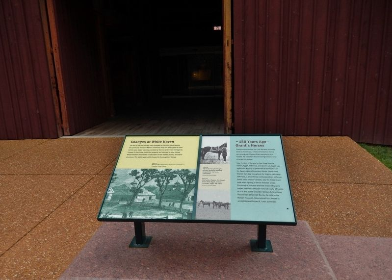 Changes at White Haven / Grants Horses Marker (<i>wide view; visitor center west doorway behind</i>) image. Click for full size.