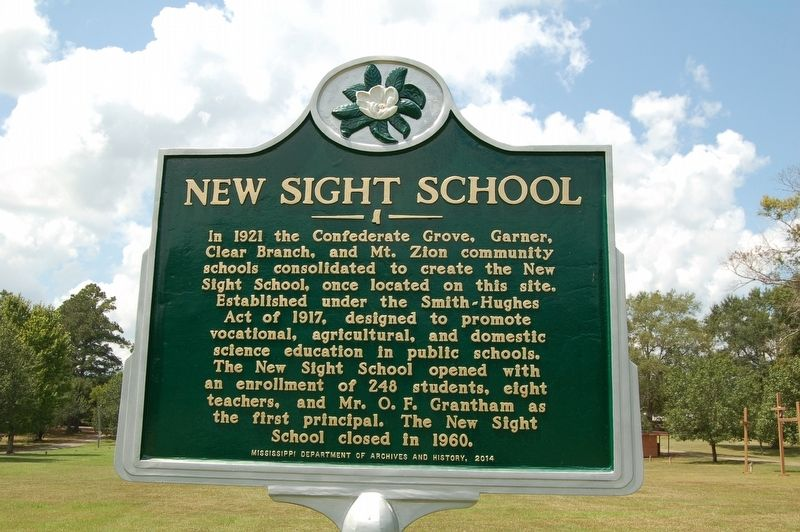 New Sight School Marker image. Click for full size.