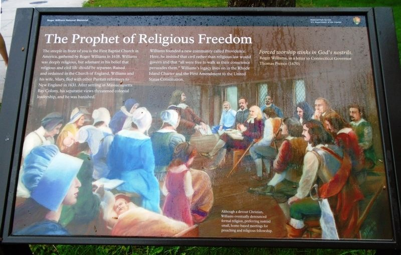 The Prophet of Religious Freedom Marker image. Click for full size.