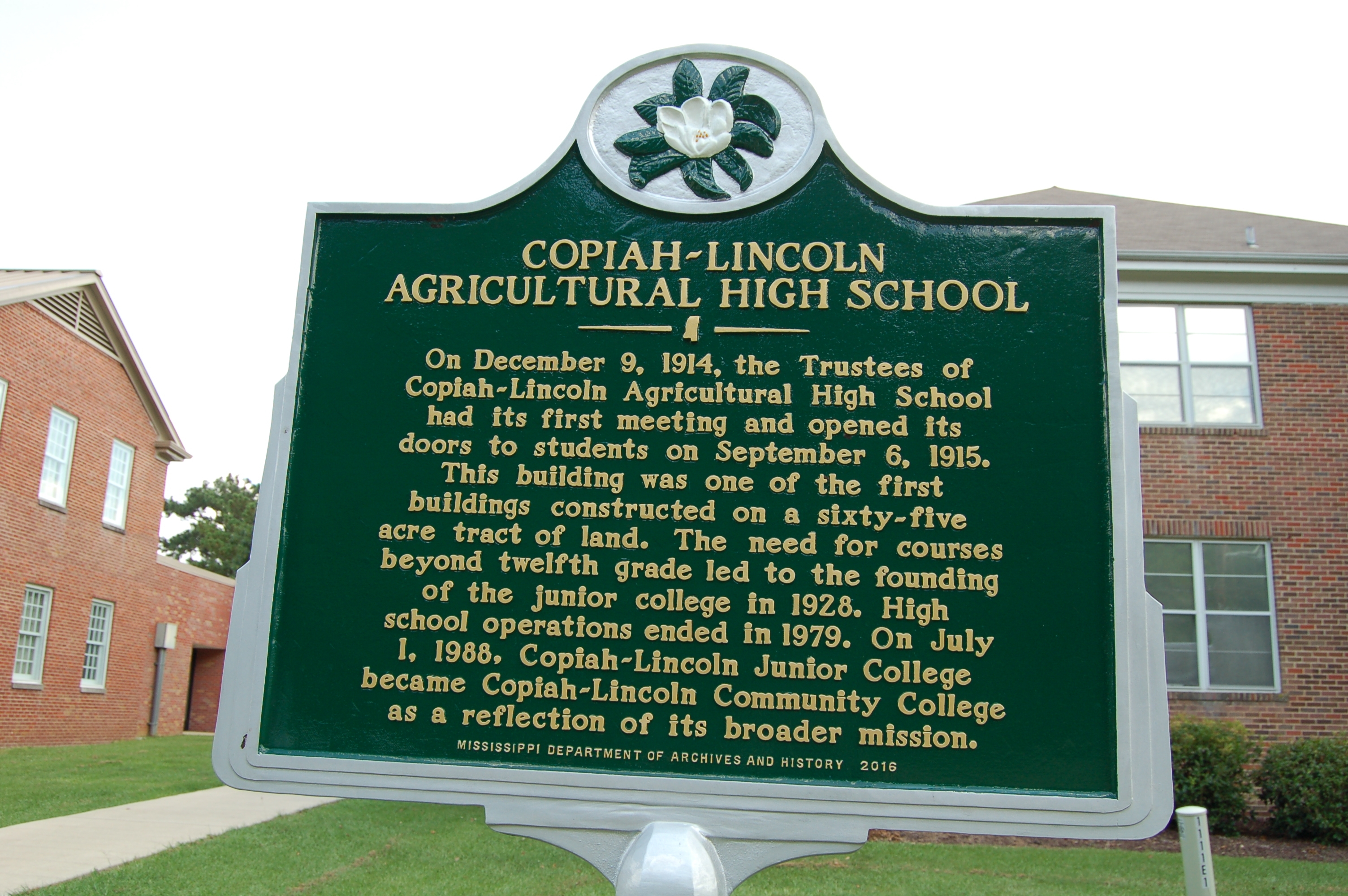 Copiah-Lincoln Agricultural High School Marker
