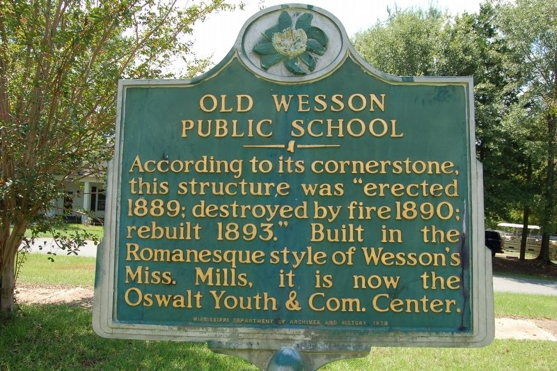 Old Wesson Public School Marker image. Click for full size.