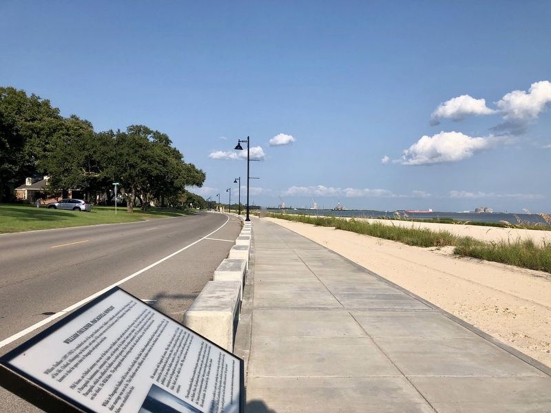 View from marker looking east along the Pascagoula Promenade. image. Click for full size.