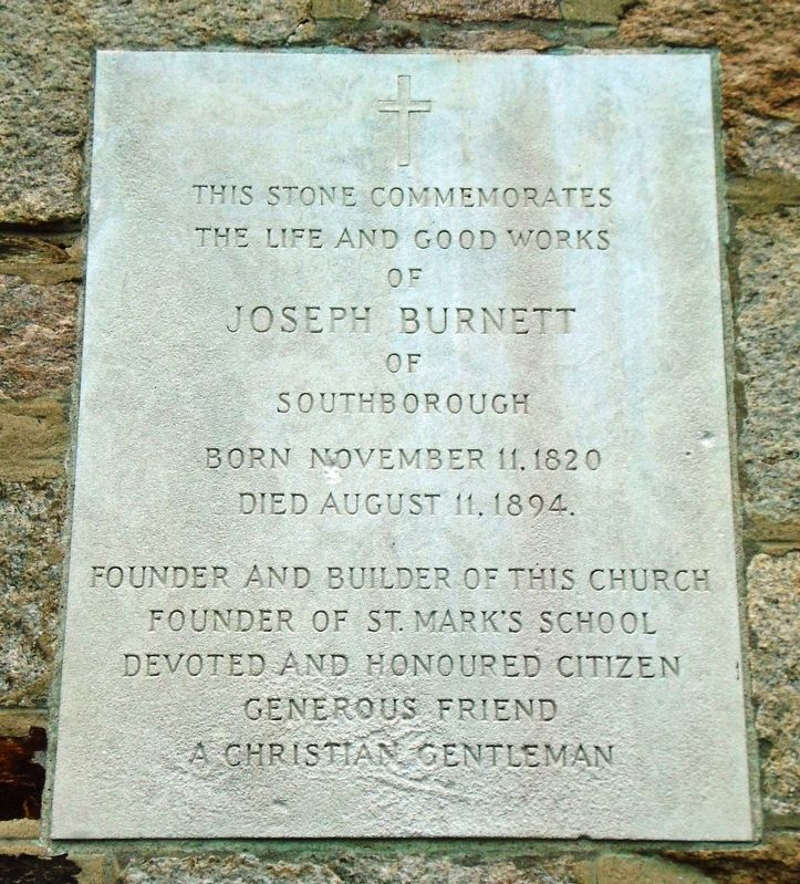 Joseph Burnett Marker image. Click for full size.
