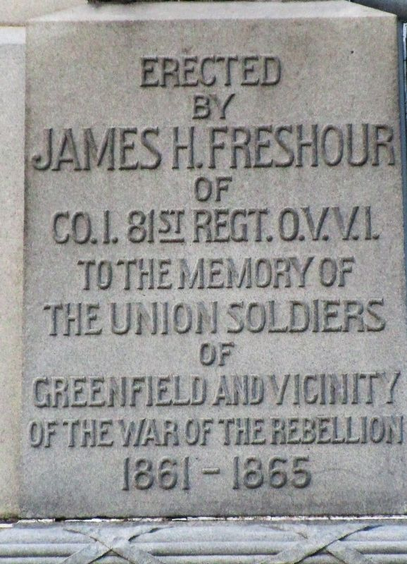 Greenfield Civil War Monument Marker image. Click for full size.