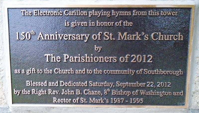 150th Anniversary of St. Mark's Church Marker image. Click for full size.