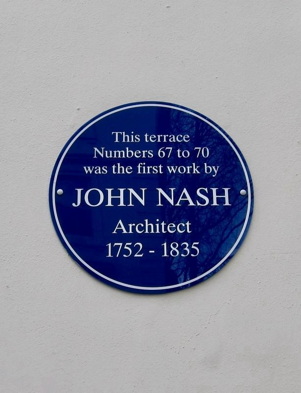 Additional John Nash plaque image. Click for full size.