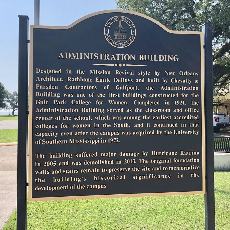 Administration Building Marker image. Click for full size.