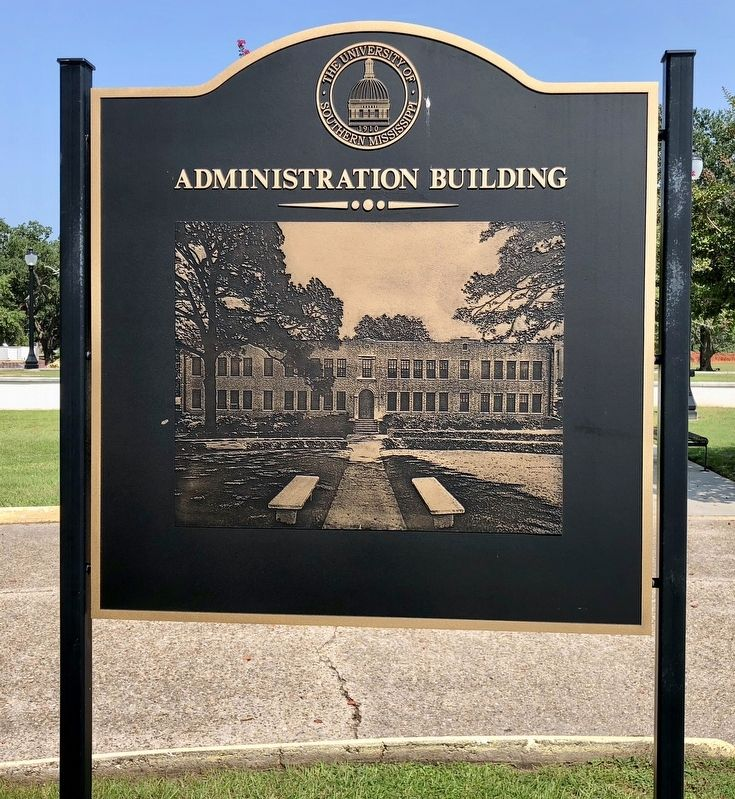 Graphic of the former Administration Building. image. Click for full size.