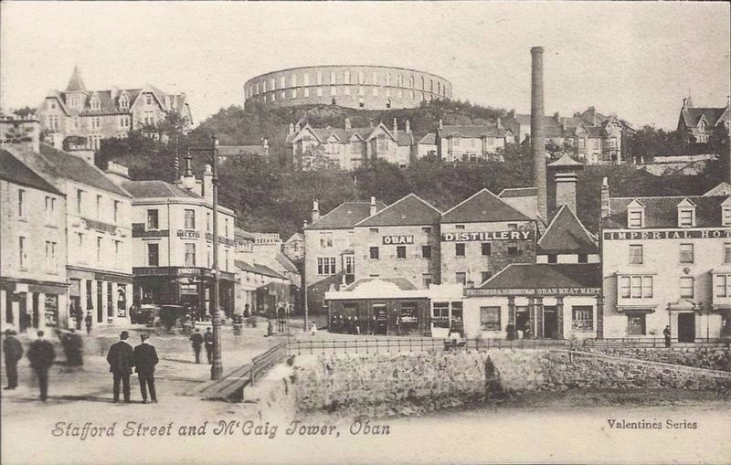 <i>Stafford Street and McCaig's Tower, Oban</i> image. Click for full size.