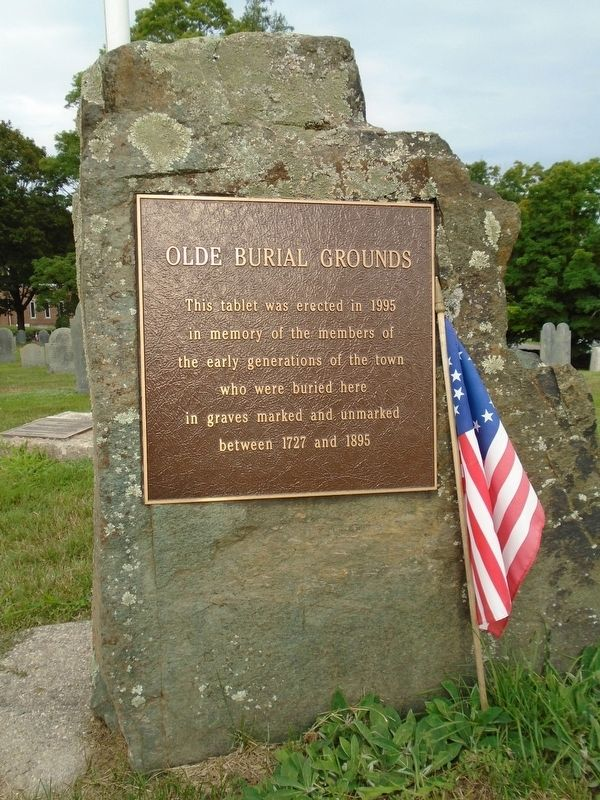 Olde Burial Grounds Marker image. Click for full size.