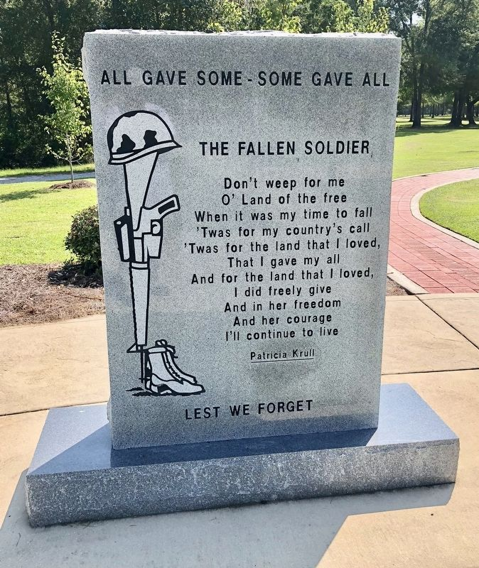 All Gave Some - Some Gave All Monument image. Click for full size.