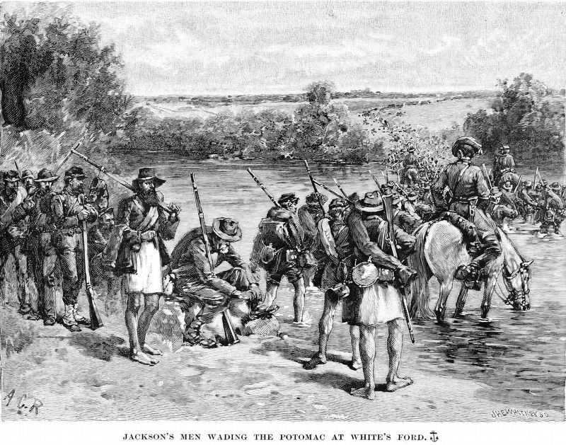 Jackson's Men Wading the Potomac at White's Ford image. Click for full size.