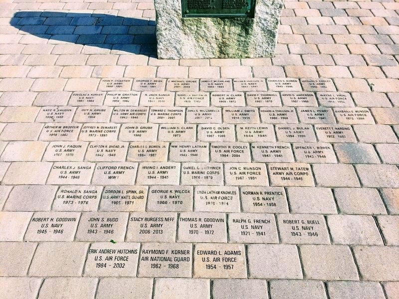 Eastford Veterans Memorial Pavers image. Click for full size.