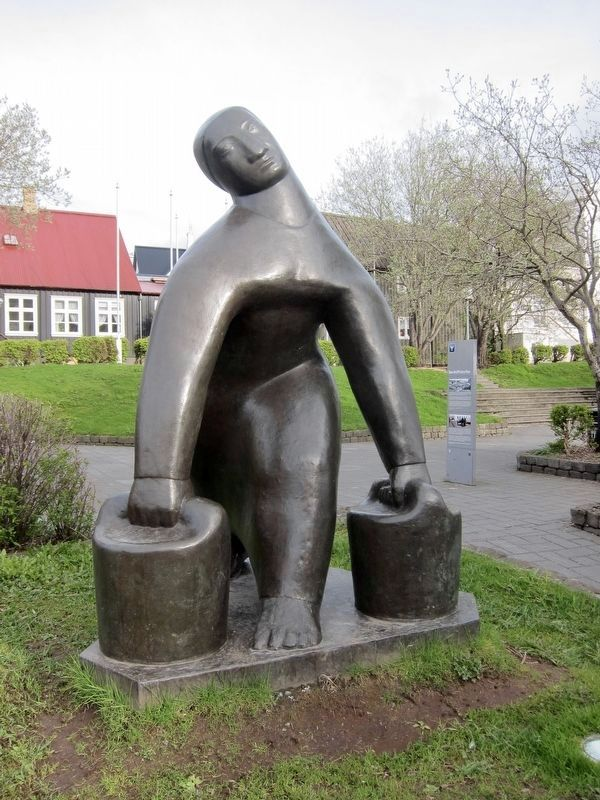 Vatnsberrin / Watercarrier (1937), by Ásmundur Sveinsson image. Click for full size.