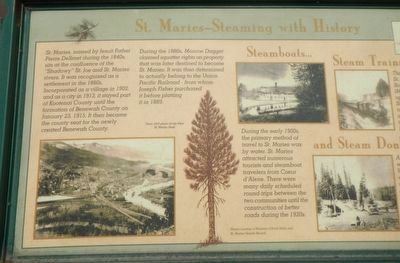 St. Maries - Steaming with History Marker image. Click for full size.